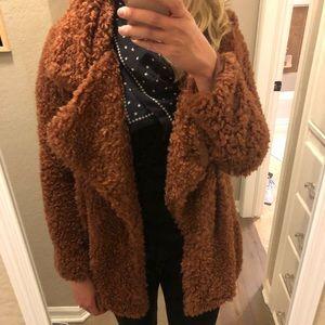 12b66d1a16f0 Audrey 3+1 Jackets & Coats - Faux fur furry teddy bear jacket coat NWOT